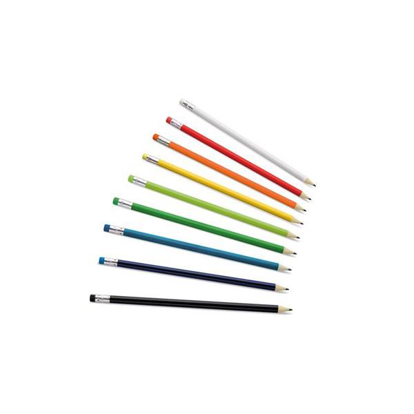 молив с цветна гумичка